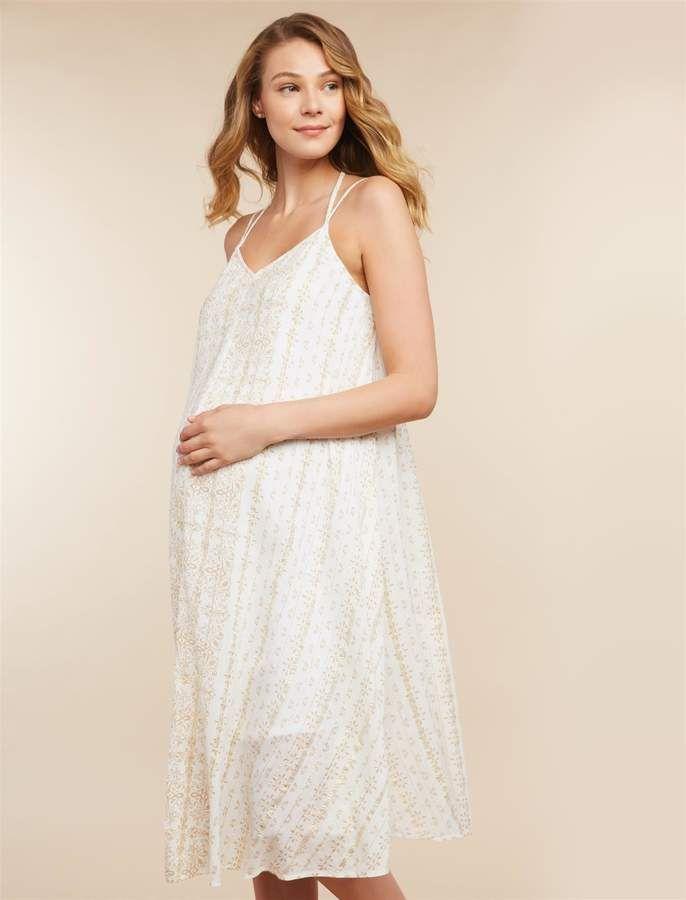 49230bdedb64f Jessica Simpson Lurex Stitching Maternity Dress in 2019 | Products ...