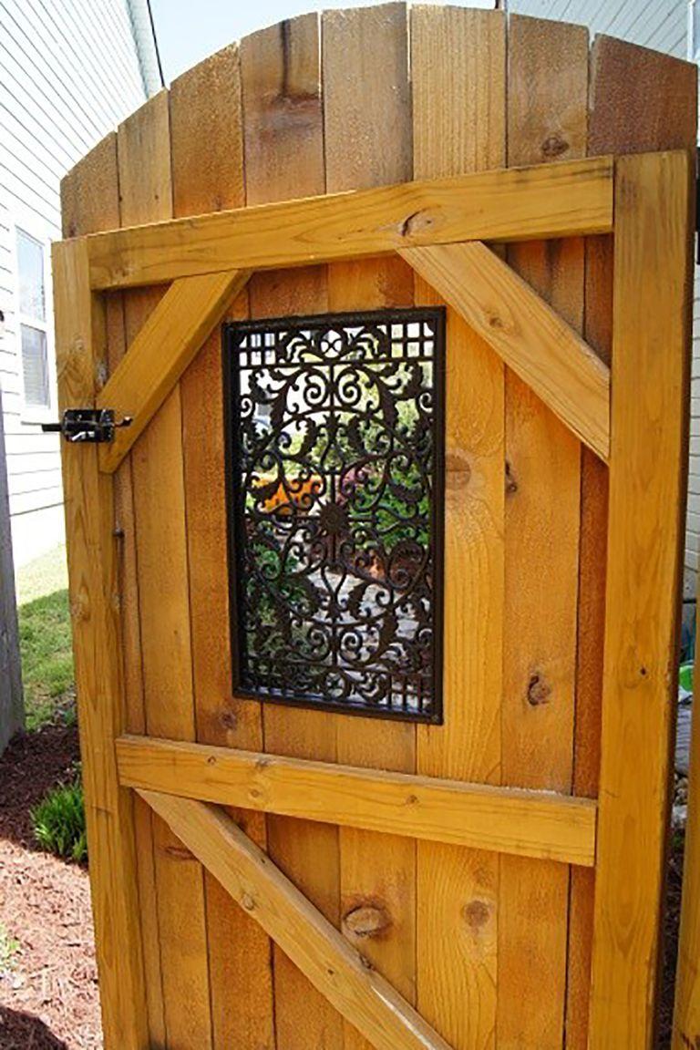 17 Inspired Garden Gates for a Beautiful Backyard | Wooden ...