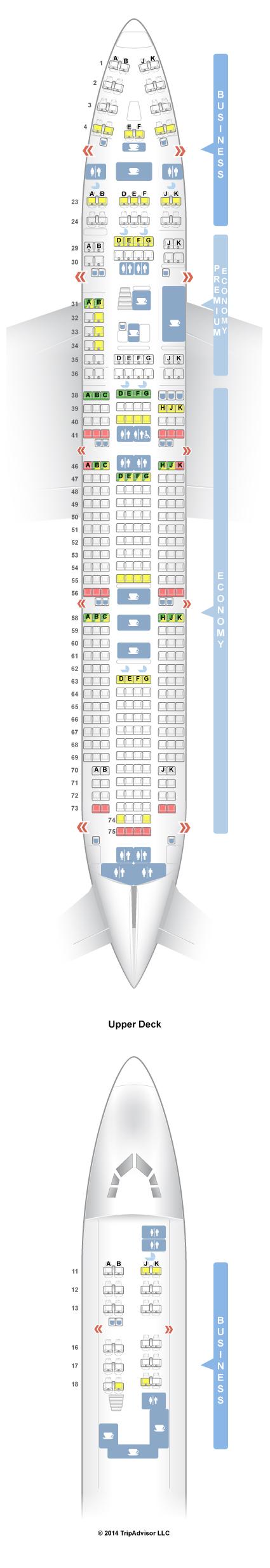 SeatGuru Seat Map Qantas Boeing 747400RR (744) Three
