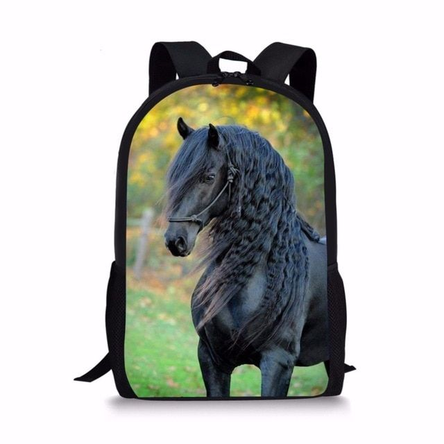 2d88b39917d4 FORUDESIGNS Handsome Horse School Bag for Teen Girls Primary Kids Back Pack  Tumblr Notebook Satchel mochila infantil Schoolbags Review