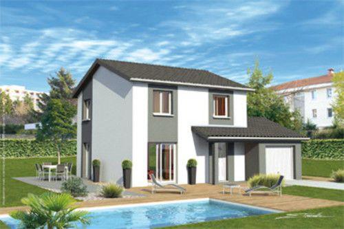 Maison pour primo-accédants Façades, Terrasse jardin et Plans - construire sa maison budget