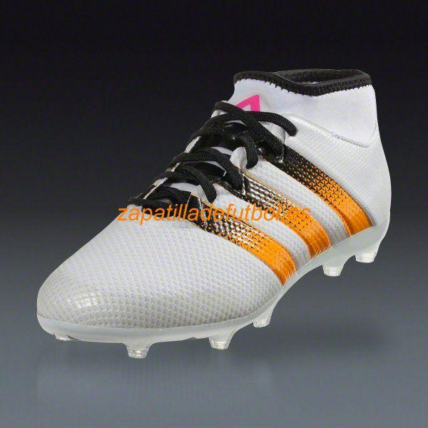 timeless design 669cb a2ebe ... Zapatillas de Soccer Adidas Ace 16.1 Primeknit FG AG Solar Blanco Rosa  Choque Oro