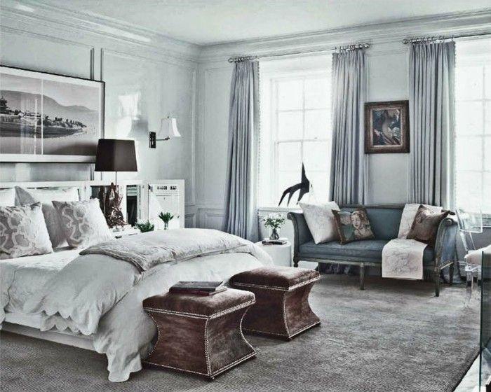 Wandfarbe Grau Interessantes Gemütliches Modell Schlafzimmer