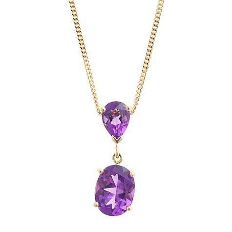 Buy A B Davis 9ct Gold Double Drop Pendant Necklace Online at johnlewis.com