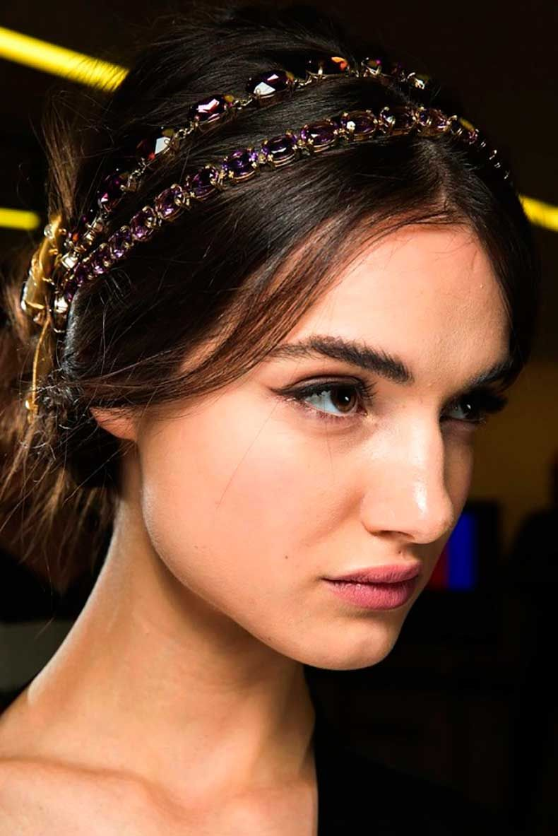 Espectacular peinados diadema Fotos de los cortes de pelo de las tendencias - Pin by Mayte Martin on bon mode | Hair styles, Holiday ...