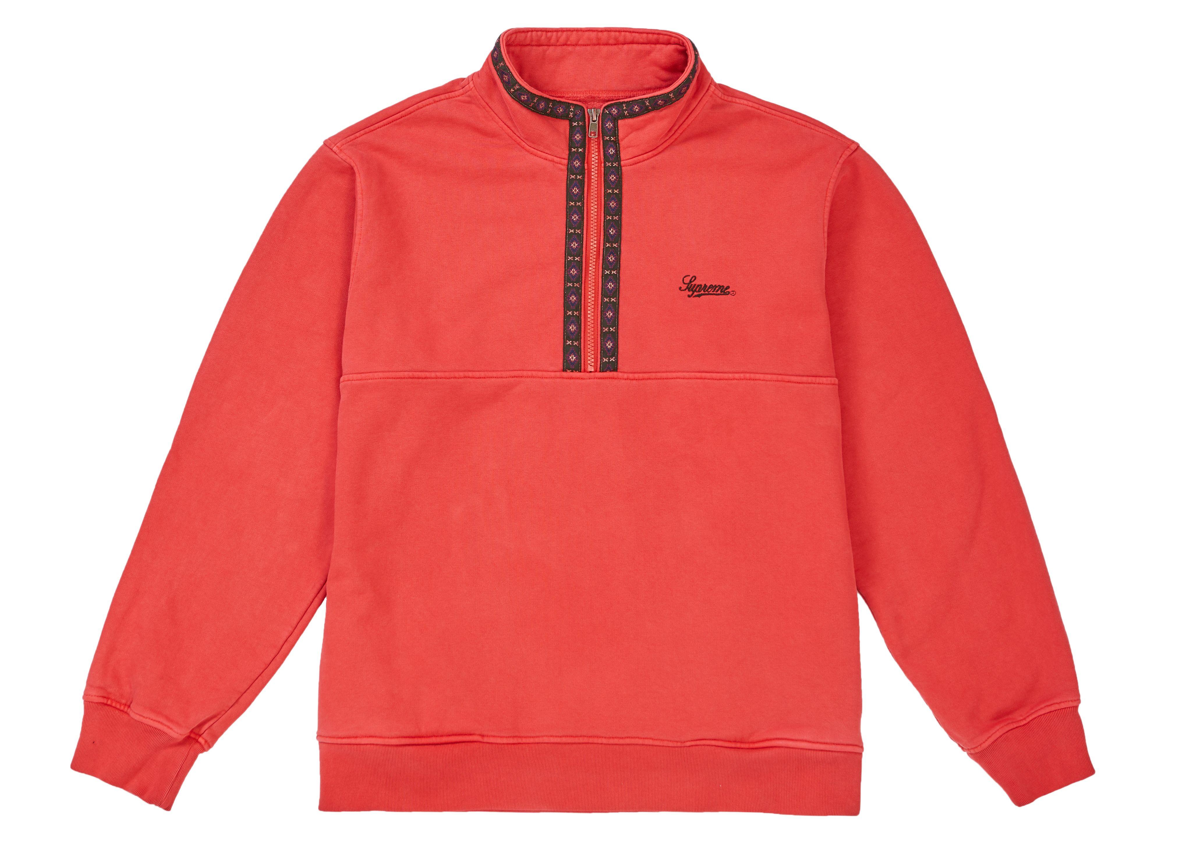 Supreme Overdyed Half Zip Sweatshirt Red (With images ...