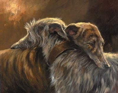 GUNNS GALLERY Mick Cawston Friendship Dog paintings