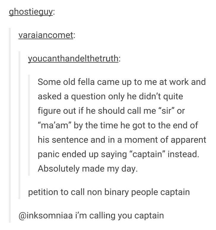 Ahoy non-binary people!   Words    Tumblr funny, Tumblr, Tumblr stuff