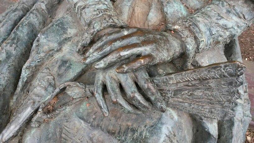 Beeld close-up van de handen. In Den Haag