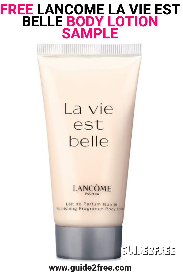 Free Lancome La Vie Est Belle Body Lotion Sample At Ulta Guide2free Samples Lotion Body Lotion La Vie Est Belle Perfume