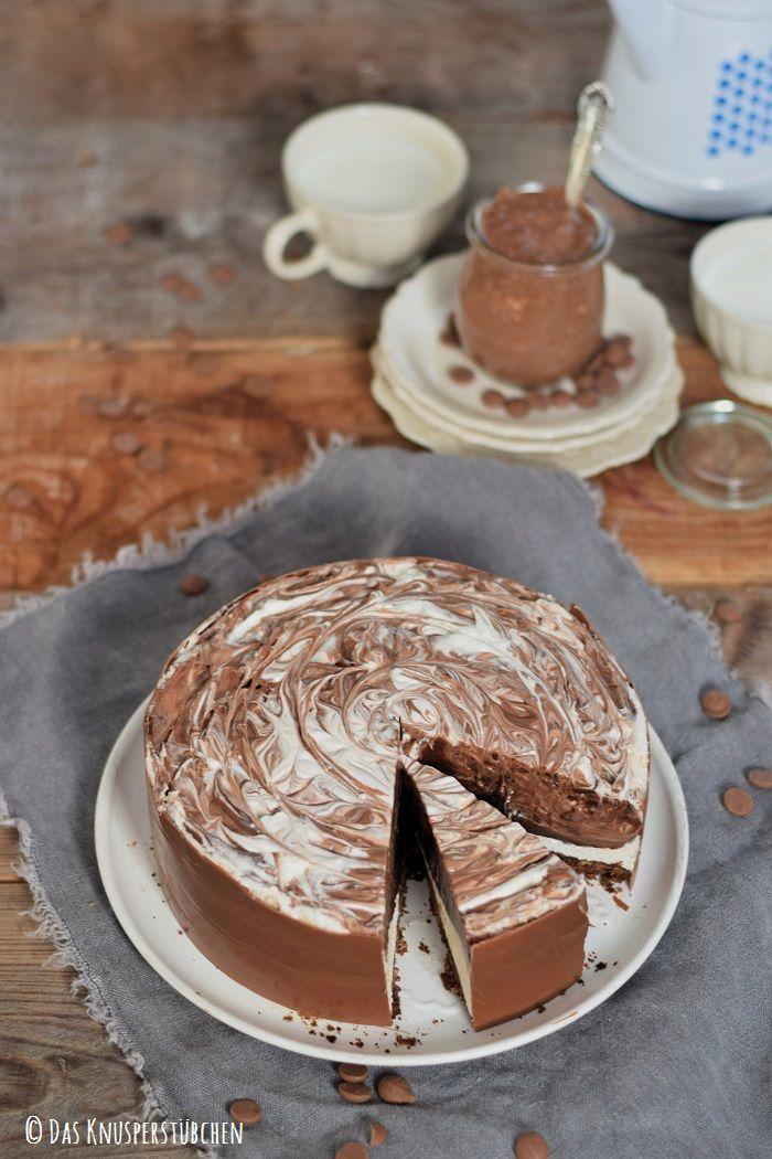 Black White Marmor Schoko Creme Torte Leckereien Sweets