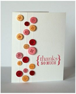 Button Greeting Cards Ideas For Handmade Homemade Card Making