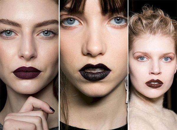 Black, dramatic lip stick and how to wear it this season!