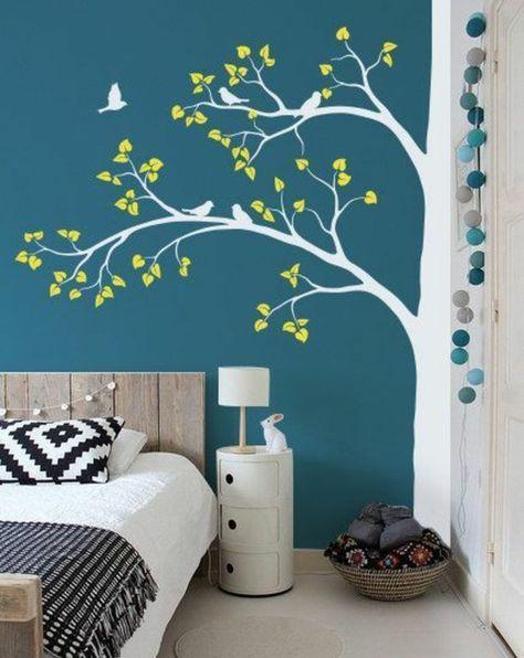Tolle Wandgestaltung mit Farbe - 100 Wand streichen Ideen #wohnzimmerideenwandgestaltung