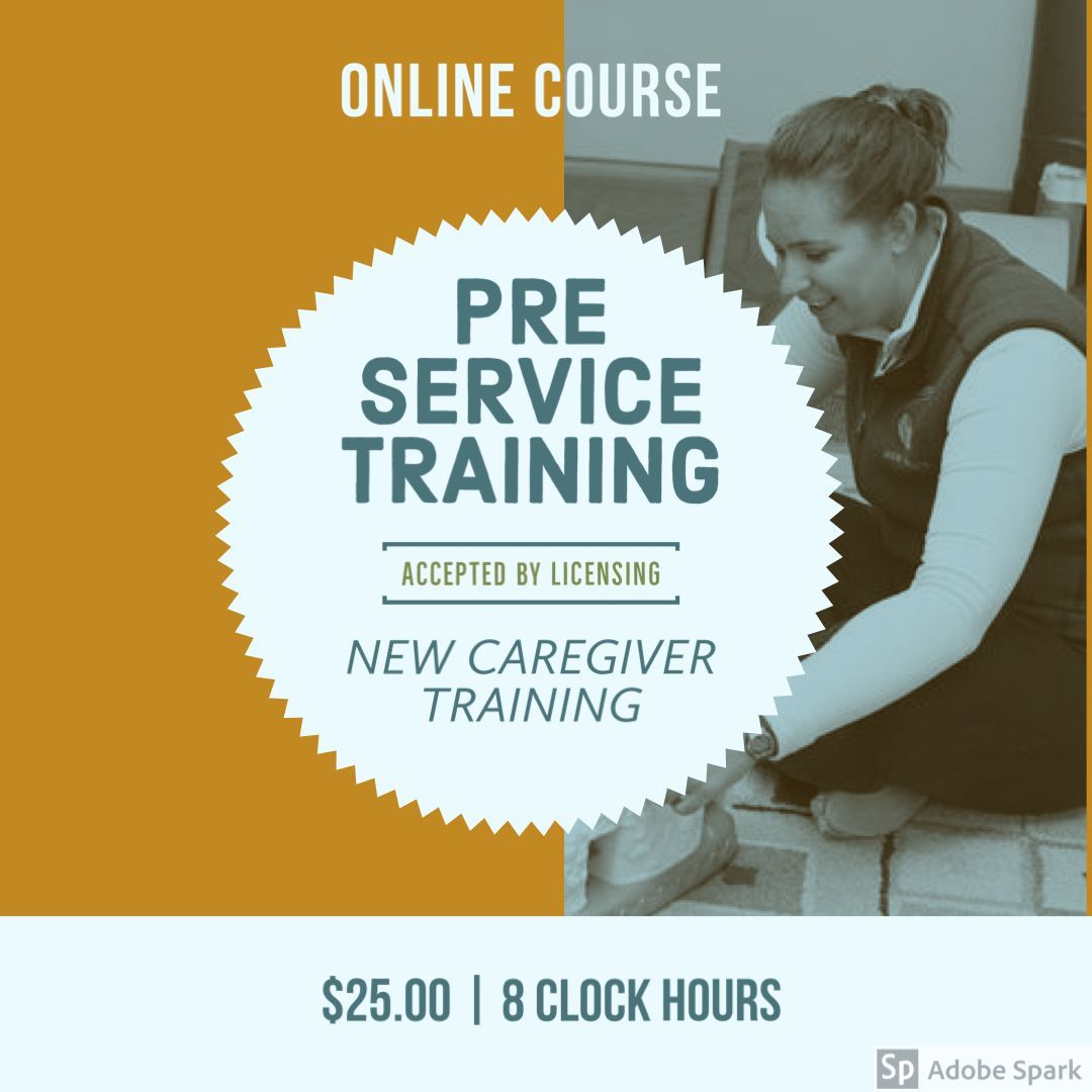 Preservice Training Child care professional, Learning