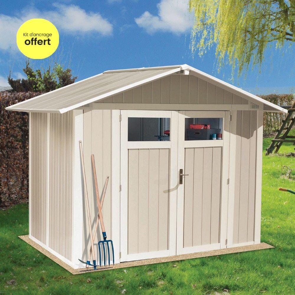 Abri De Jardin Resine Grosfillex 4 M Ep 26 Mm Utility Avec