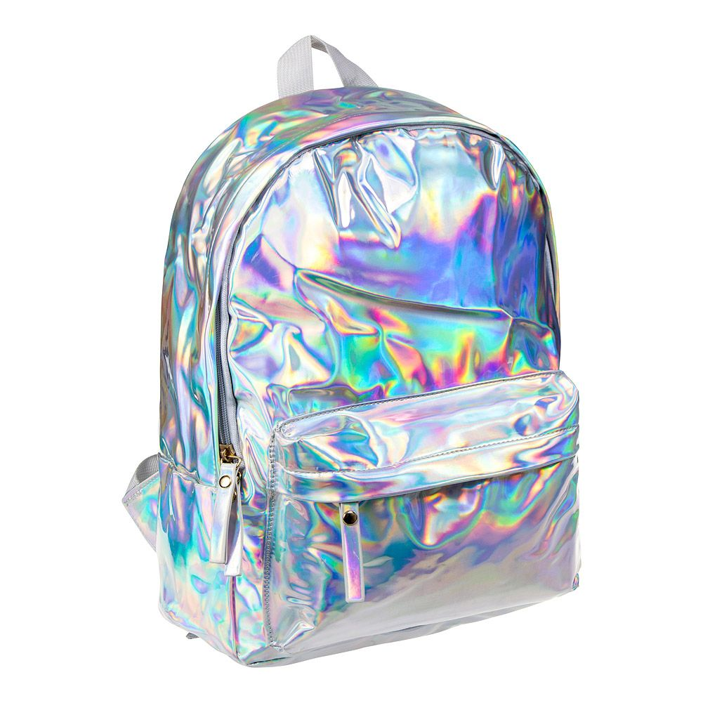 9773377fe1bc Blue Banana Holographic Backpack (Silver)
