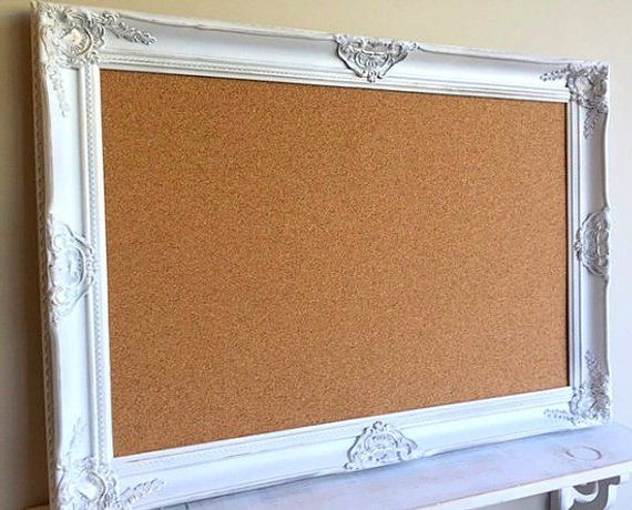 Decorative CORK BOARD Corkboard Framed PINBOARD Distressed