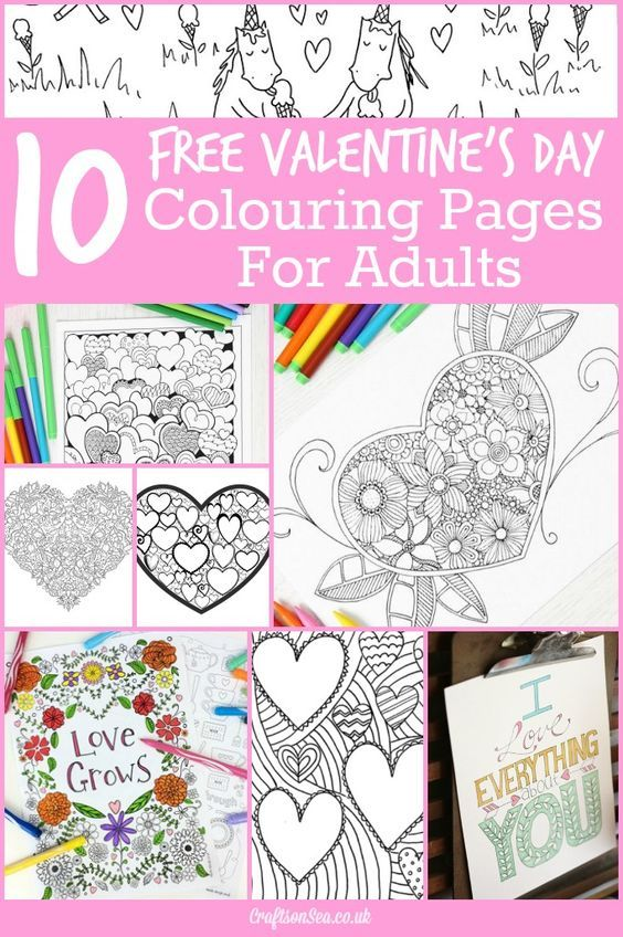 10 Free Valentines Day Colouring Pages For Adults Valentines Day Coloring Page Valentines Day Coloring Valentine Coloring Pages