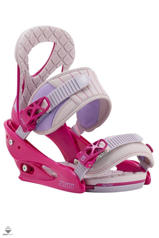 Wiazania Snowboardowe Damskie Burton Stiletto Pink Grey 1054102657 Snowboard Bindings Stiletto Burton Snowboards
