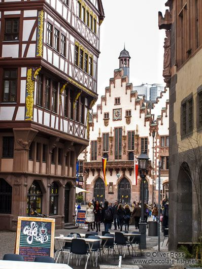 Half Timbered Houses Near The Frankfurt Romer Frankfurt Deutschland Stadt Frankfurt Deutsche Landschaft