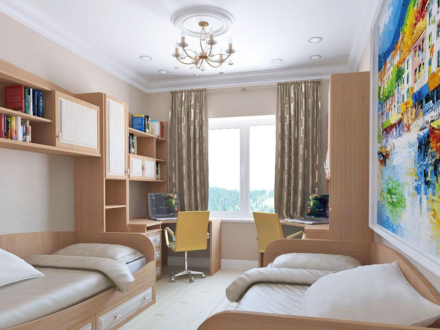 детская комната для 2 девочек дизайн фото 10 кв.м: 21 тыс ...