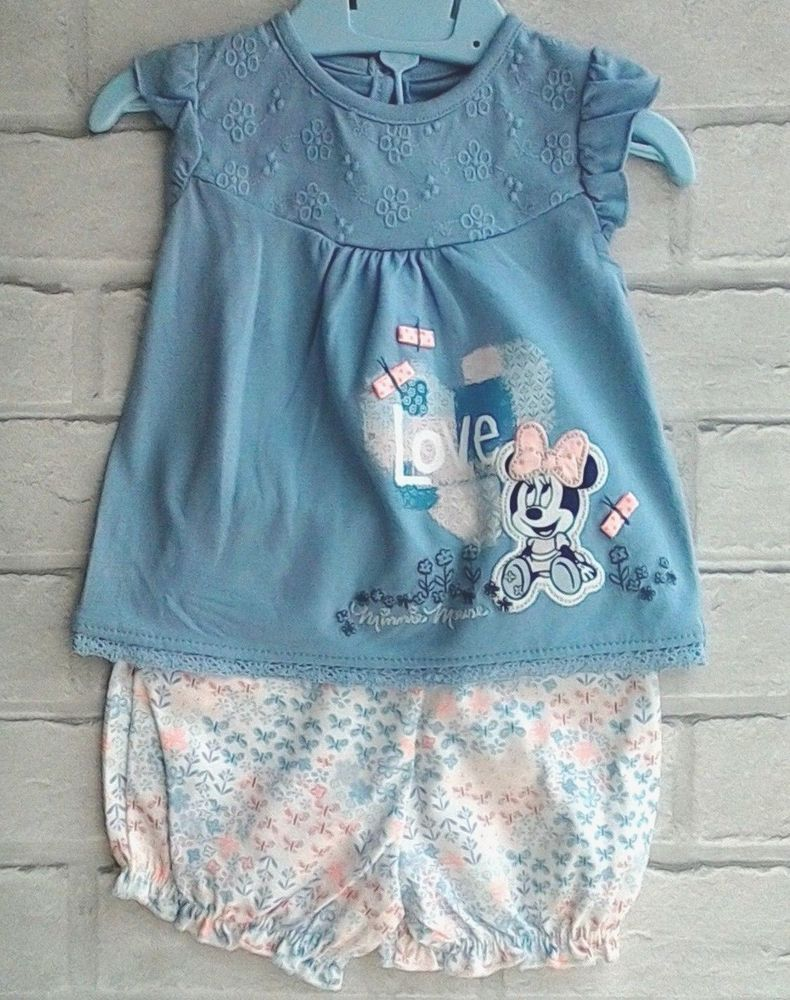 f474d2be8 Baby Girls Disney Minnie Mouse Top and Shorts First size Newborn ...