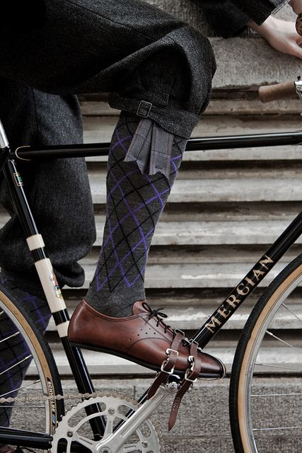 rapha tweed socks - by tyounging, via Flickr (And I really dislike the socks... but the shoes and pants are nice )