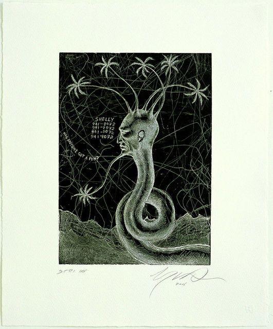 Ashley Bickerton, Snake Head No. 4 (2006)