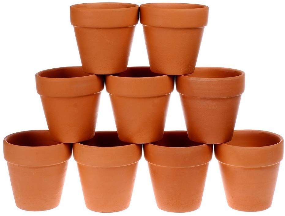 Winlyn 9 Pcs Small Terracotta Pot Clay Pots 3 Clay Ceramic Pottery Planter Cactus Flower Pots Succulent Pot Drainage Hole Great For Plants Crafts Wedding Favor Terracotta Flower Pots Ceramic Pottery Succulent Pots