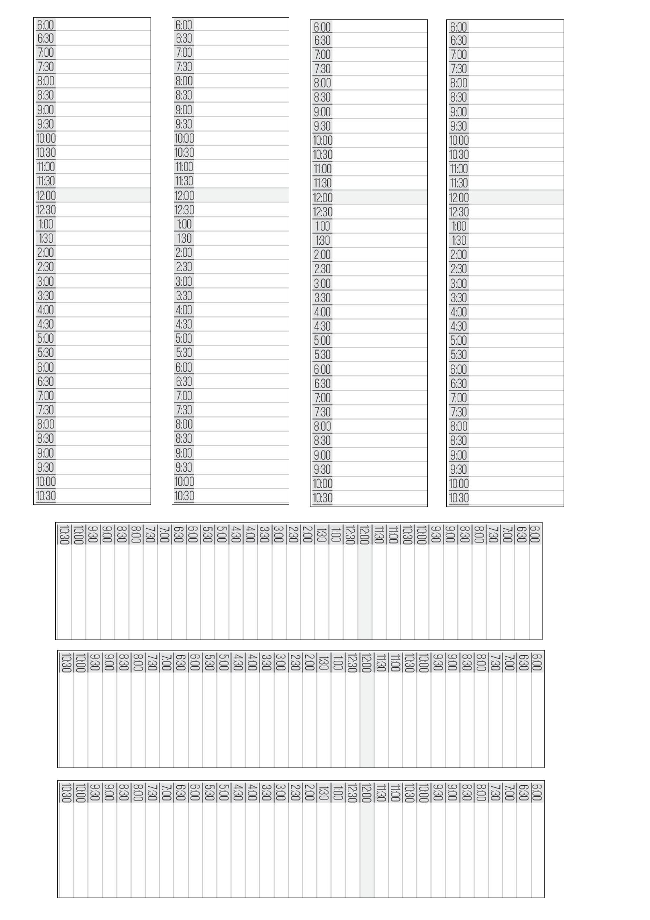Erin Condren Width Daily Timetable Sticker Print A  Planner