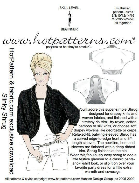 PATTERN! FREE Slinky Shrug Pattern bis 26 US-Gr. | ✄ Varrás ...