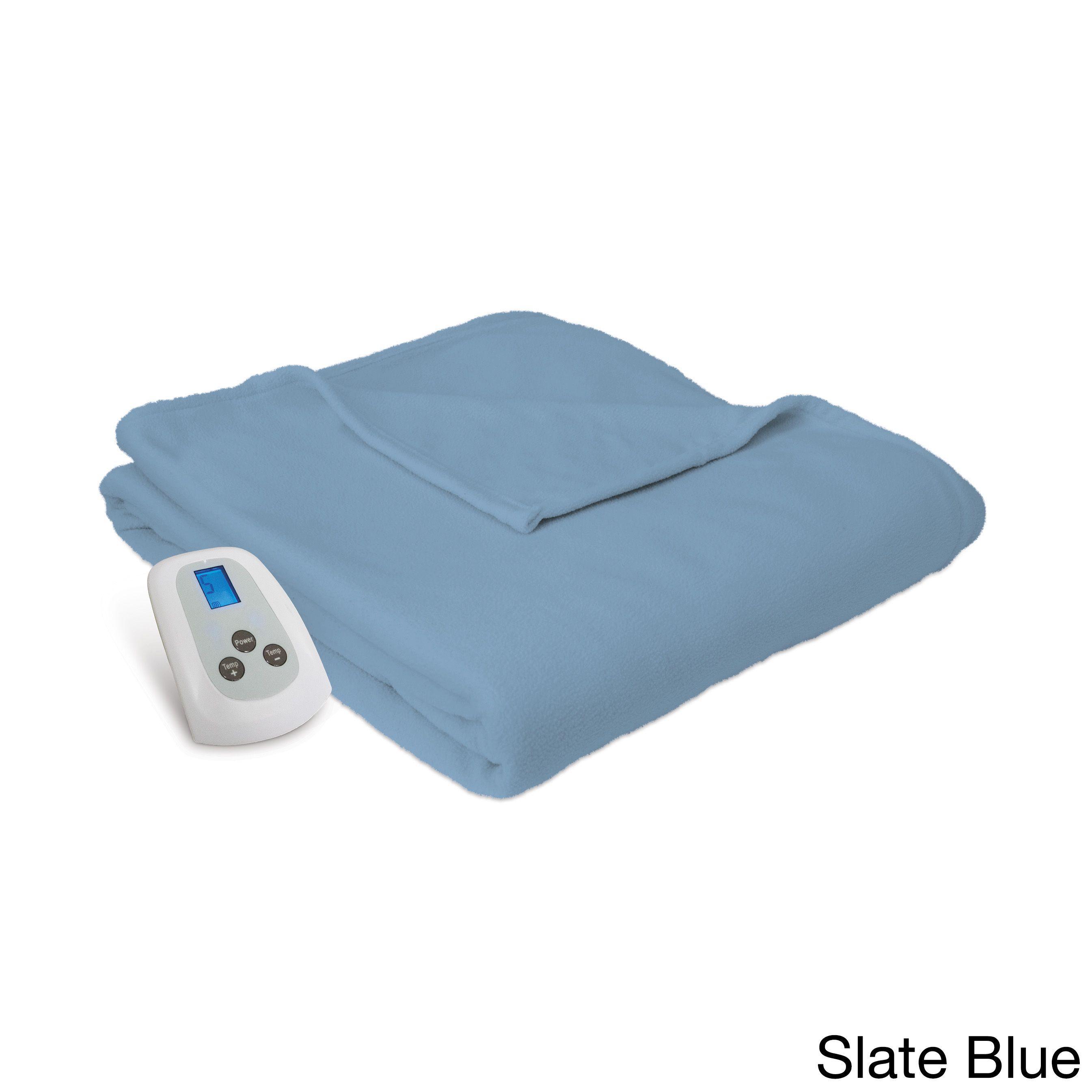 Serta Microfleece Heated Electric Warming Blanket With