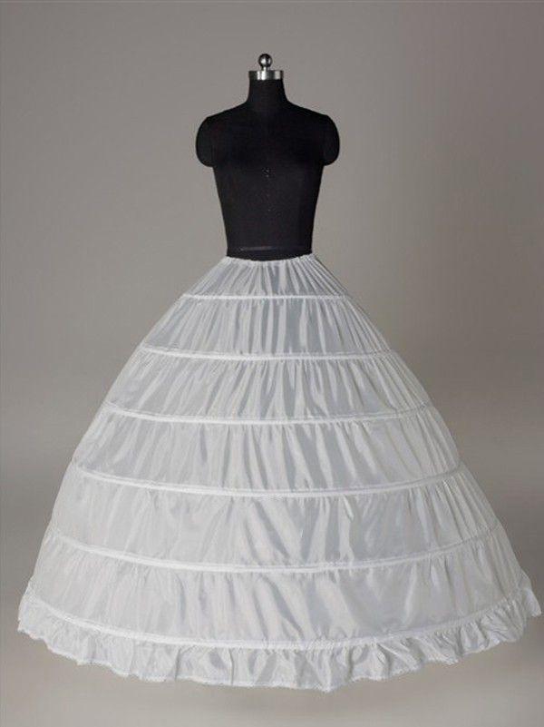 5b495a7102d4a Nylon Ball-Gown 1 Tier Floor Length Slip Style/Wedding Petticoats ...