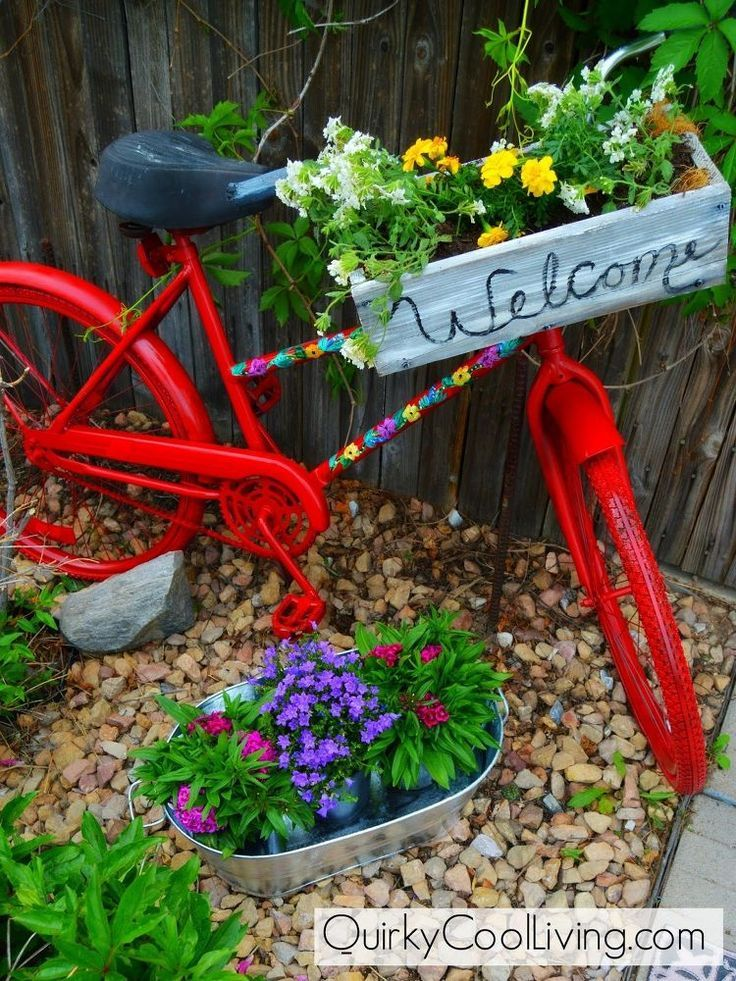 New Uses For Old Bicycles   Valerieu0027s Clipboard On Hometalk, The Largest  Knowledge Hub For
