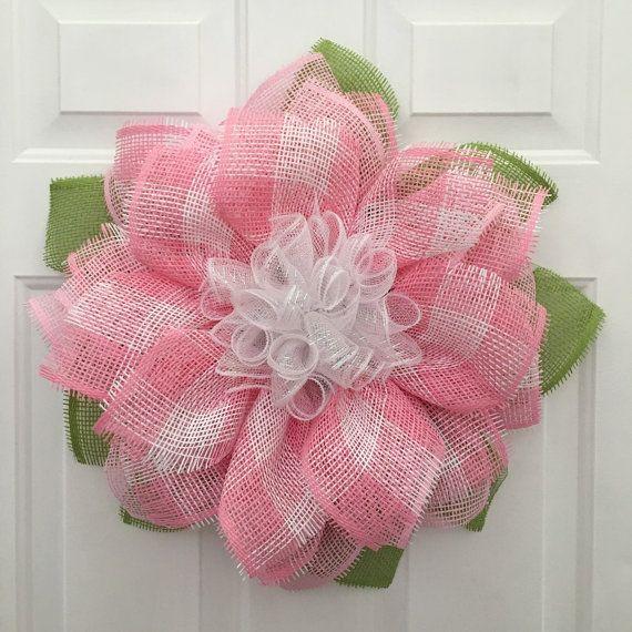 Art culos similares a rosa de la guirnalda de la flor for Articulos decoracion habitacion bebe