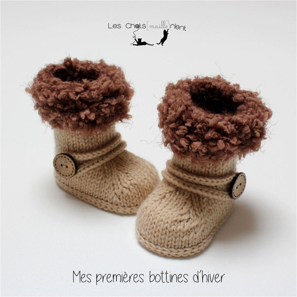 tricotées bottes Chaussons bébé bottines mainstyle TXiwOPkZu