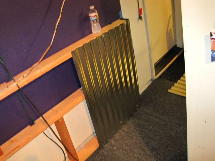 corrugated steel chair rail the best massage how to adding a metal wainscoting type wall office