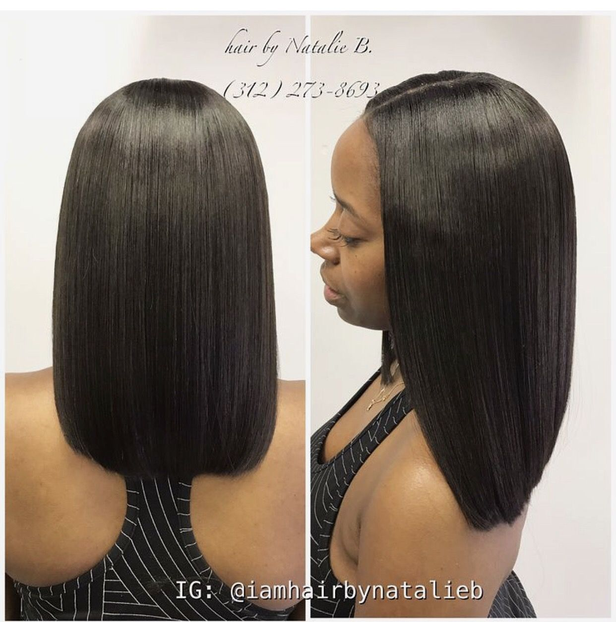 Eck Out This Natural Looking Traditional Sew In Hair