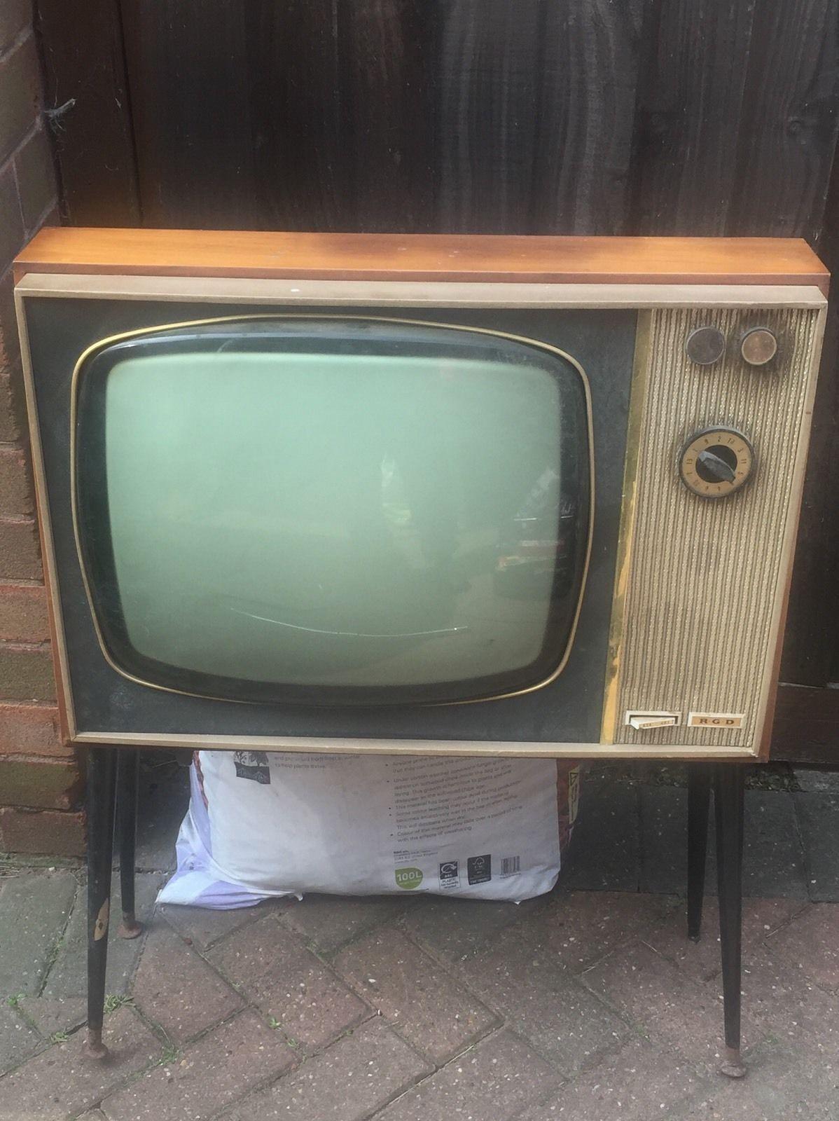 Vintage Rgd 626 Television Set 1960s Tv Props Vintage Radio