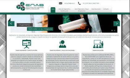 Diseño de sitio web para Enab.cl.