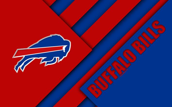 American Sports Material Wallpapers: Download Wallpapers Buffalo Bills, 4k, Logo, NFL, American