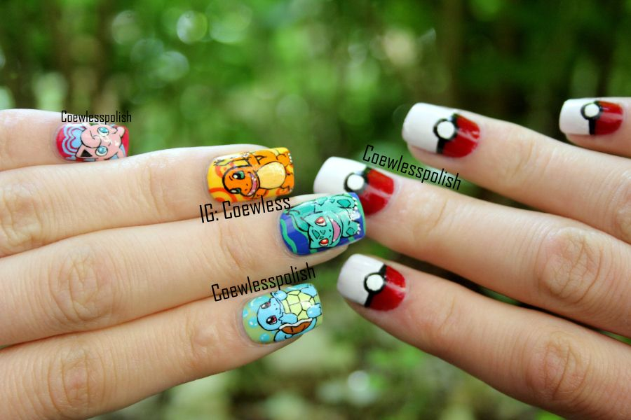 Pokemon nails.  I could maybe do the one on the right :P