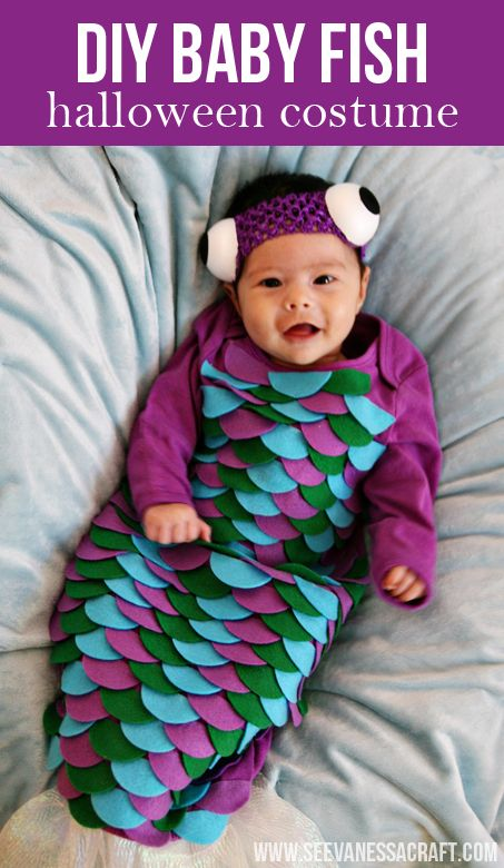 20 crafty days of halloween diy baby fish costume - Diy Halloween Baby Costumes