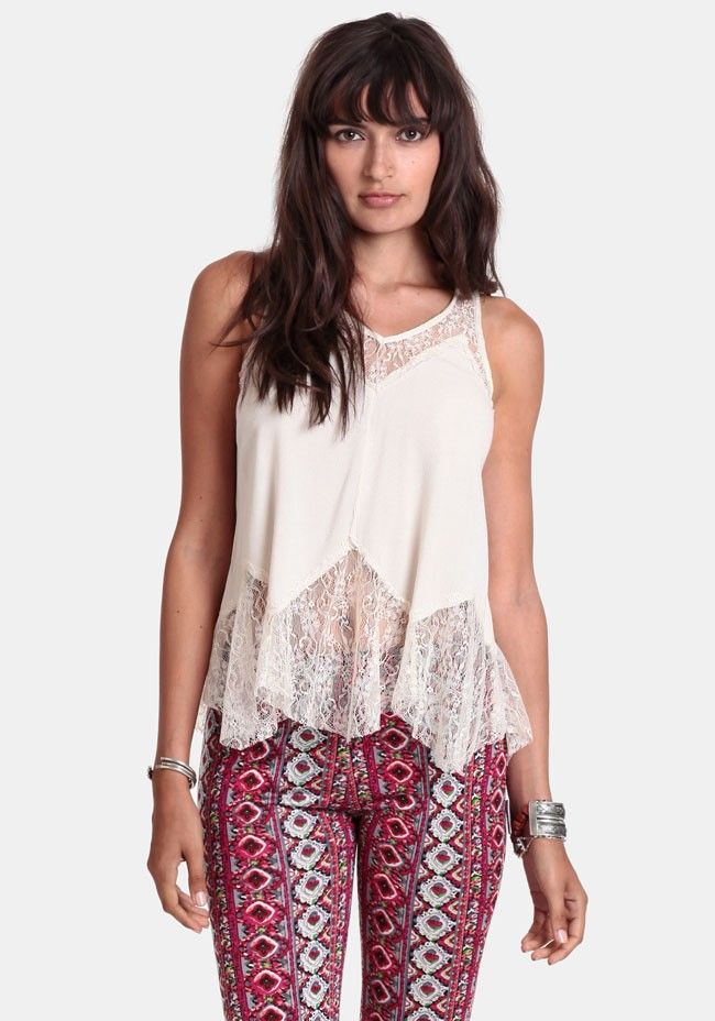 Of A Dream Lace Detail Tank