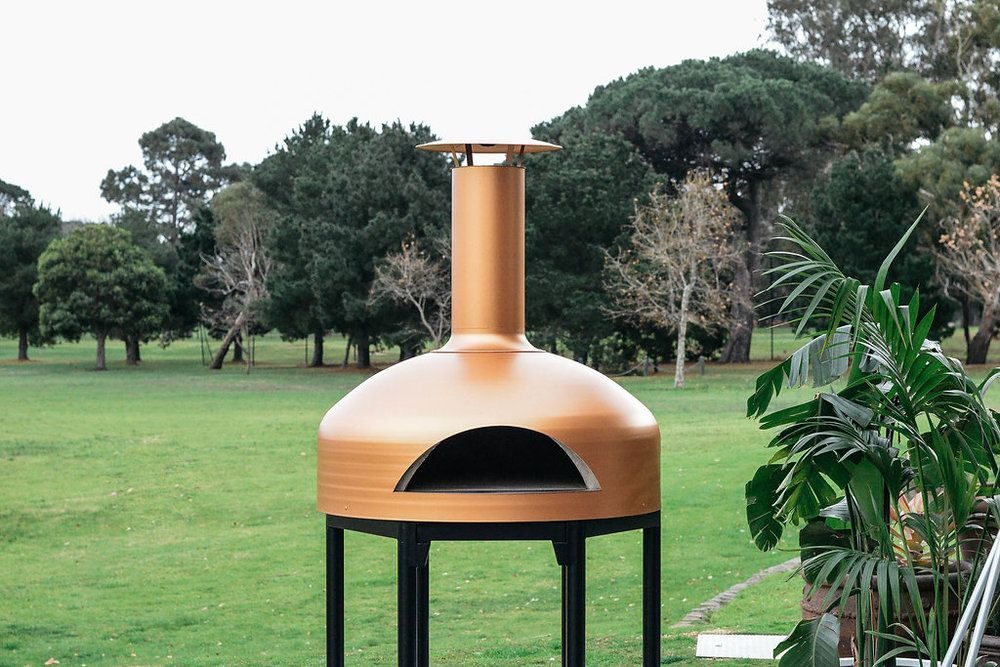 The Giotto Copper Wood Fired Pizza Wood Outdoor Decor
