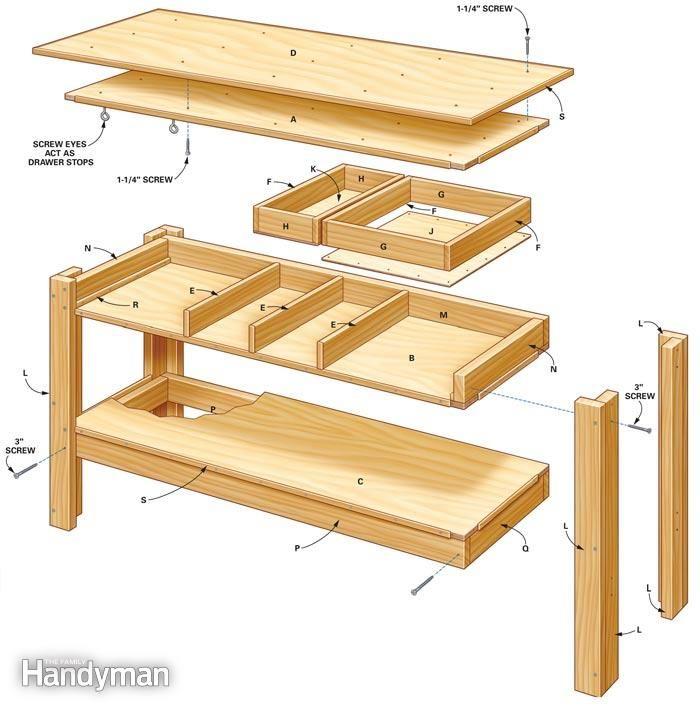 Making Garage Building Plans: Гараж верстак, Столярные работы и