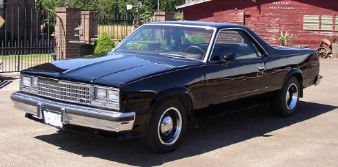 A Black Chevy El Camino The Coolest Car Ever El Camino Chevy El Camino Getaway Car