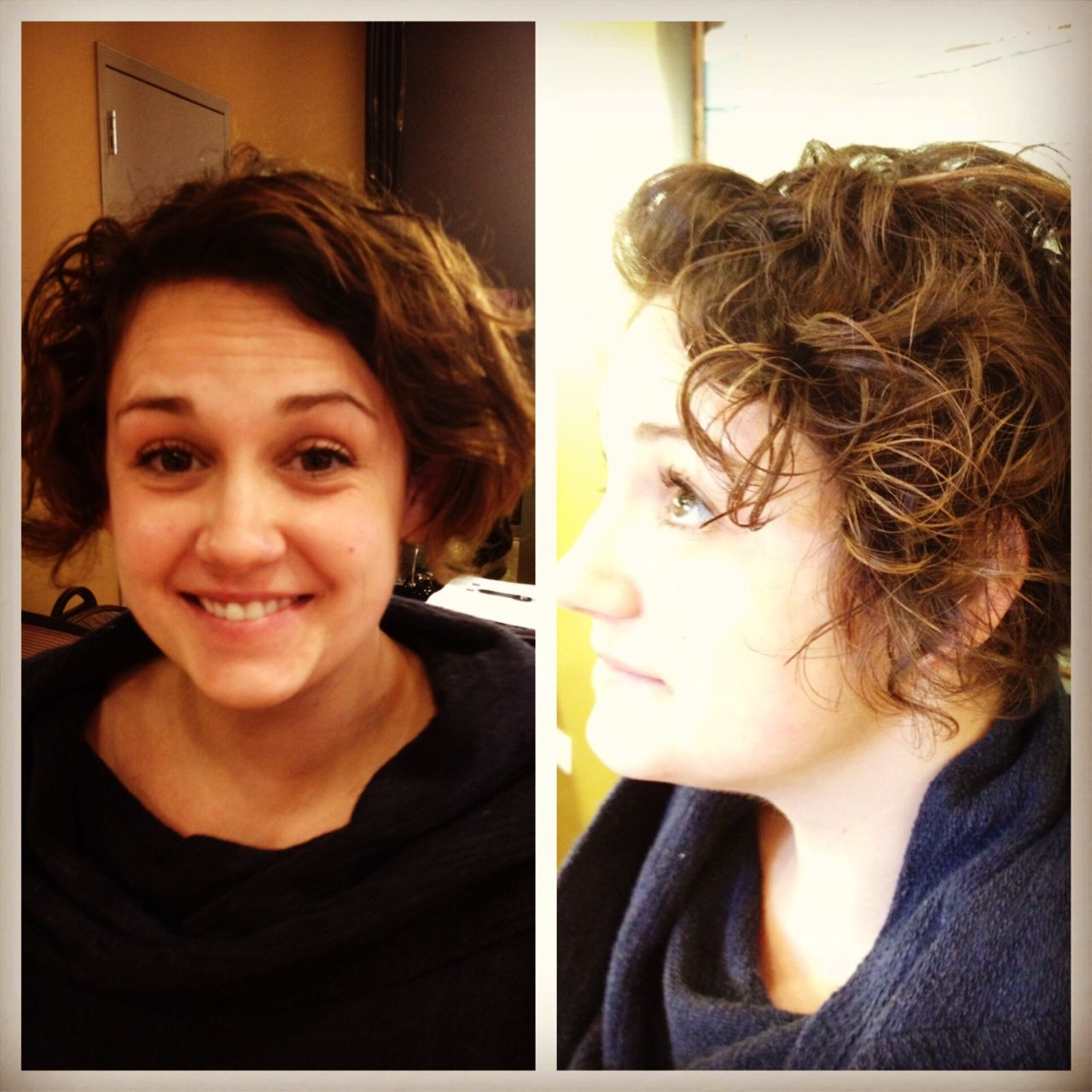 Before And After The Ouidad Haircut At Studiobooth Curls