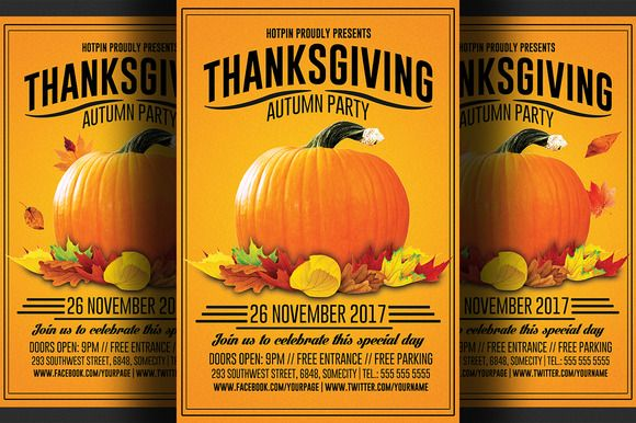 Thanksgiving Flyer Template Flyer Template Print Templates And